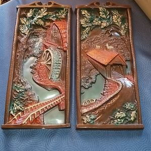 1960's Covered Bridge wall plaques